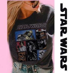 STAR WARS T-Shirt Charcoal Grey Small